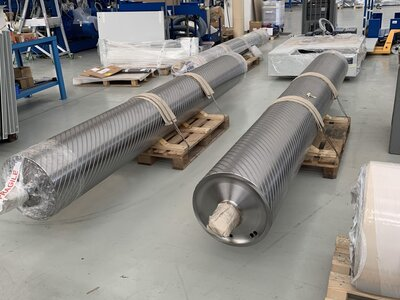 Contact Rollers for 3.7M CLT Machine, approx. 2,700Kg each