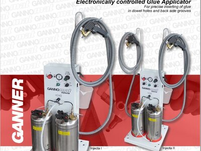 Electronically controlled glue applicator